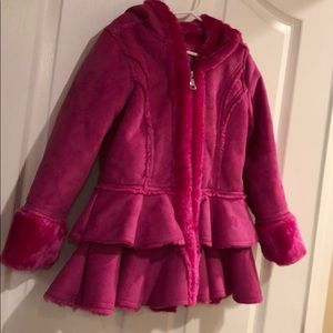 Heavy pink jacket sz5